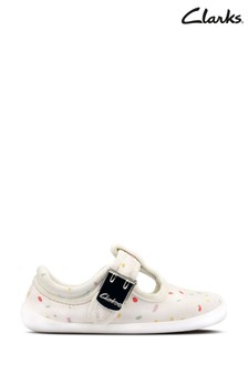 Clarks Off White Roamer Sun T Canvas Shoes