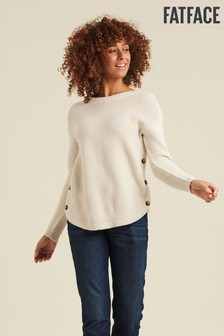 FatFace Natural Emmy Button Jumper
