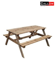 Wooden Picnic Bench By Callow