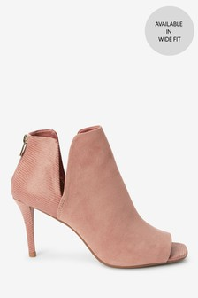 Peep Toe Shoe Boots