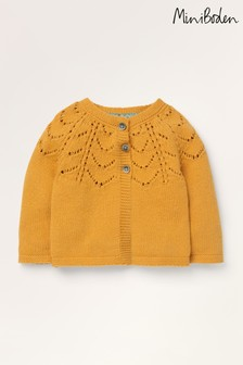 Mini Boden Yellow Cosy Cardigan