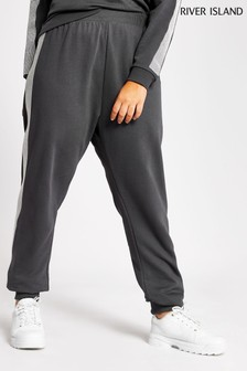 River Island Charcoal Plus Size Embellished Matching Joggers