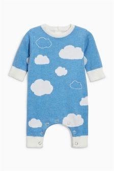 云朵图案针织连衫裤 (0个月-2岁)