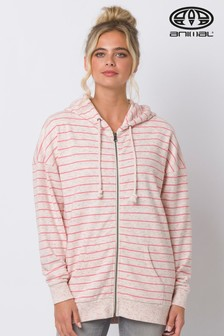 Animal Cream Drifting Zip Through Hoody