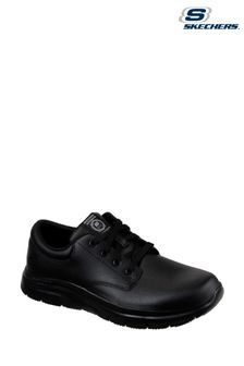 Skechers® Black Flex Advantage Fourche Slip Resistant Work Shoes
