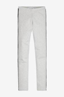 Calvin Klein Jeans Grey Logo Tape Leggings