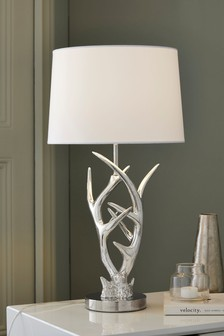 Antler Chrome Table Lamp