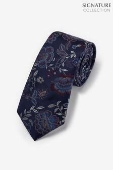 Floral Signature Silk Tie