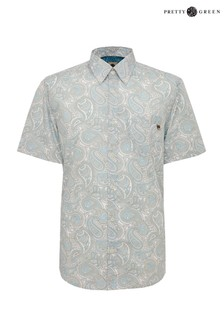 Pretty Green Linear Paisley Short Sleeve Shirt