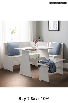 Newport Corner Dining Set with Bench by Julian Bowen