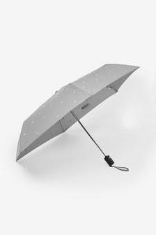 Silver Metallic Stars Auto Open Auto Close Umbrella