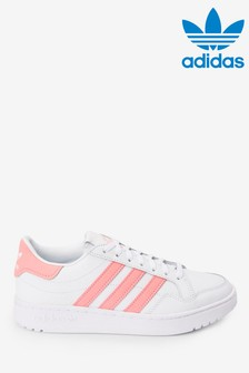 adidas Originals White/Pink Court Novice Youth Trainers