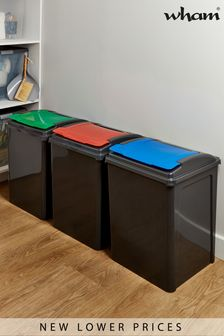 Set of 3 Recycle It 50L Slimline Bins by Wham