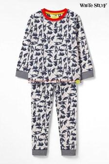 White Stuff Natural Kids Hairy Bear Jersey Pyjama Set