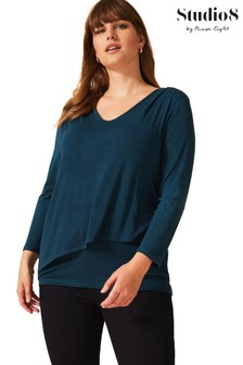 Studio 8 Blue Talia Double Layer Top