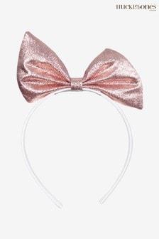 Hucklebones Pink Bow Hairband