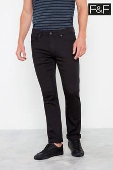 F&F Black Knitted Trousers