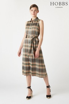 Hobbs Tan Isadora Dress