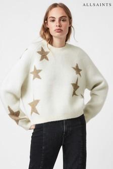 AllSaints White/Gold Star Jumper