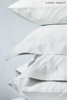 Set of 2 White 200 Thread Count Cotton Pillowcases