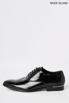 River Island Rattan Patent Oxford Shoes