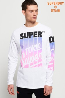 Superdry Ticket Type Infill Long Sleeve T-Shirt
