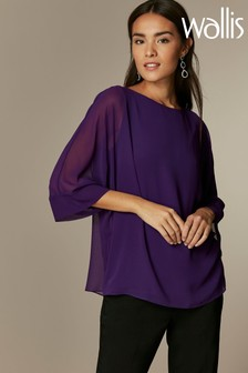 Wallis Purple Overlay Top