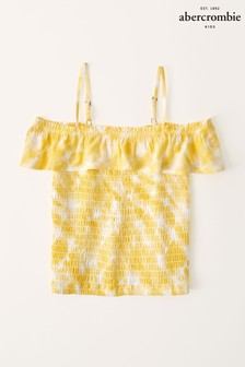 Abercrombie & Fitch Smocked Ruffle Tube Top