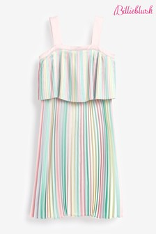 Billie Blush Multicolour Pleat Dress