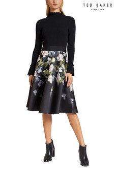 Ted Baker Black Printed Skirt
