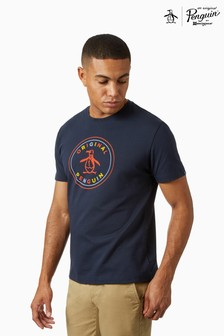 Original Penguin® Multicolour Flock Stamp Logo T-Shirt