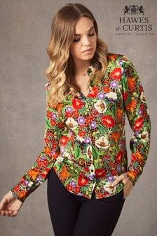 חולצת סאטן בצבע חום דגם Boutique Luxury Matt של Hawes & Curtis