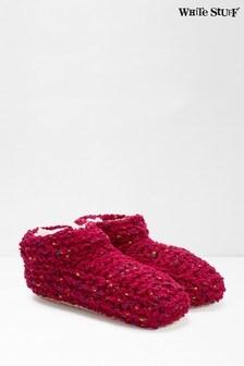 White Stuff Pink Cloud Slipper Socks