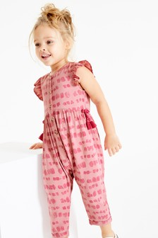 Printed Frill Sleeve Jumpsuit (3mths-7yrs)