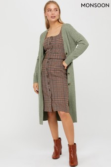 Monsoon Brown Patsy Check Dress