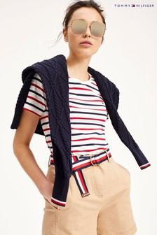 Tommy Hilfiger Red Essential Striped T-Shirt