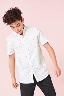 Short Sleeve Printed Oxford Shirt (3-16yrs)