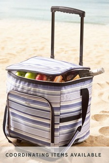 Striped Picnic Cool Bag On Wheels