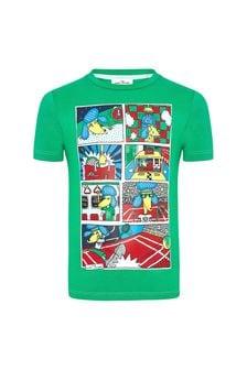 Marc Jacobs Boys Green Cotton T-Shirt