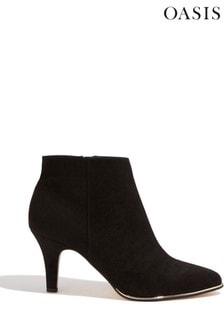 Oasis Black Ellen Ankle Boots