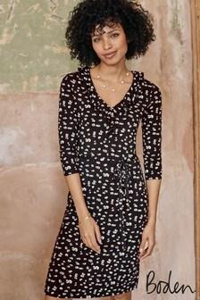 Boden Black Logan Jersey Dress