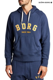 Bjorn Borg Sport Hoody In Navy With Yellow Logo