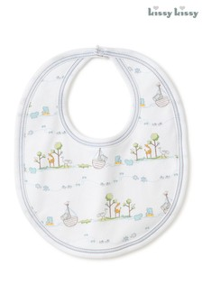 Kissy Kissy Blue Noahs Animals Bib