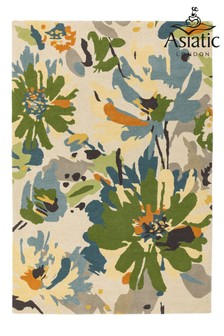 Reef Wool Floral Rug by Asiatic Rugs