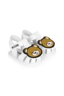 Moschino Kids Baby White Sandals