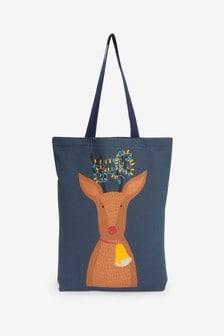 Парусиновая сумка-тоут с оленем