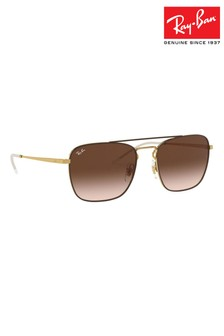 Ray-Ban® Brown Round Wayfarer Sunglasses