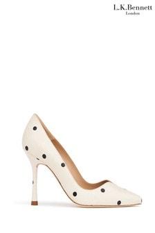 L.K.Bennett x Royal Ascot Cream Faye Sweetheart Court Shoes