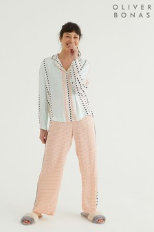 Oliver Bonas Multi Patched Geo & Trouser Pyjama Set