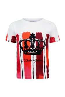 Dolce & Gabbana Kids Dolce & Gabbana Baby Boys Red Cotton T-Shirt